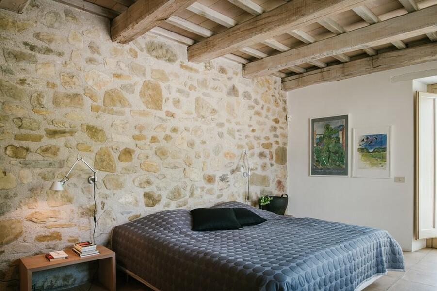 Grosse Schlafzimmer im Ferienhaus in Umbrien Casa Winther