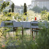 Outdoor table in the holiday villa in Piedmont Cascina Monferrato