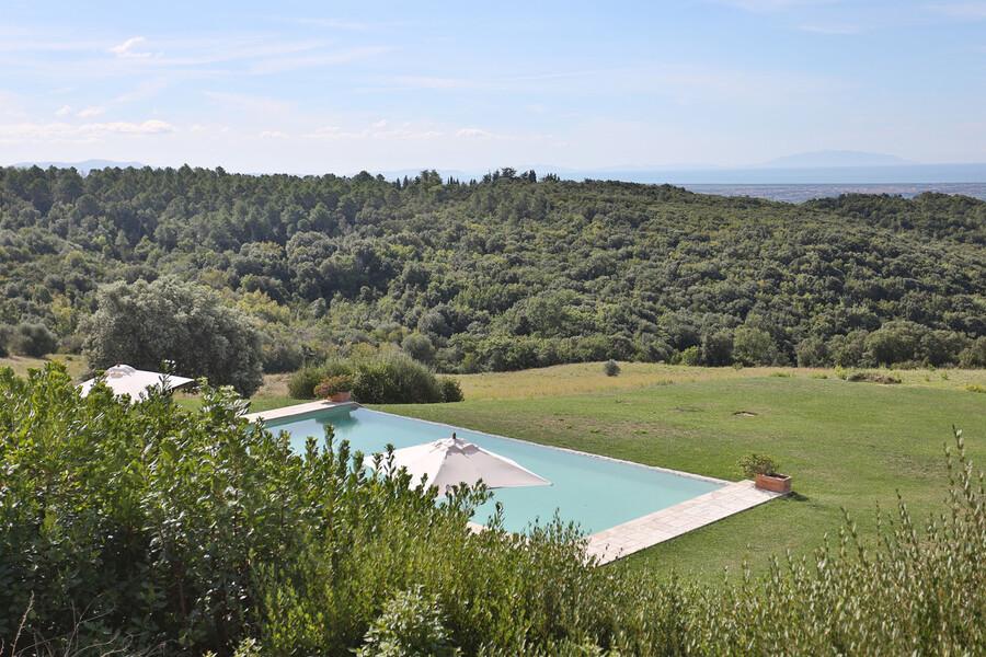 Ruhig gelegen bietet die Ferienvilla La Lepraia einen einmaligen Ausblick auf die Kulturlandschaft Maremma