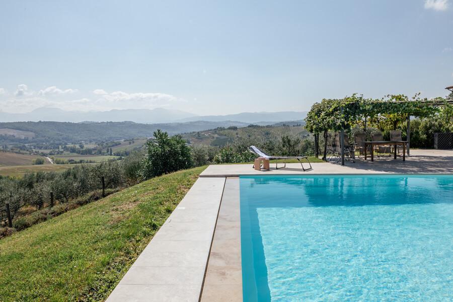Pool zur Alleinnutzung im Ferienhaus Casa Winther in Umbrien