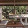 Überdachte Terrasse im Ferienhaus in Apulien Trullo Silvano