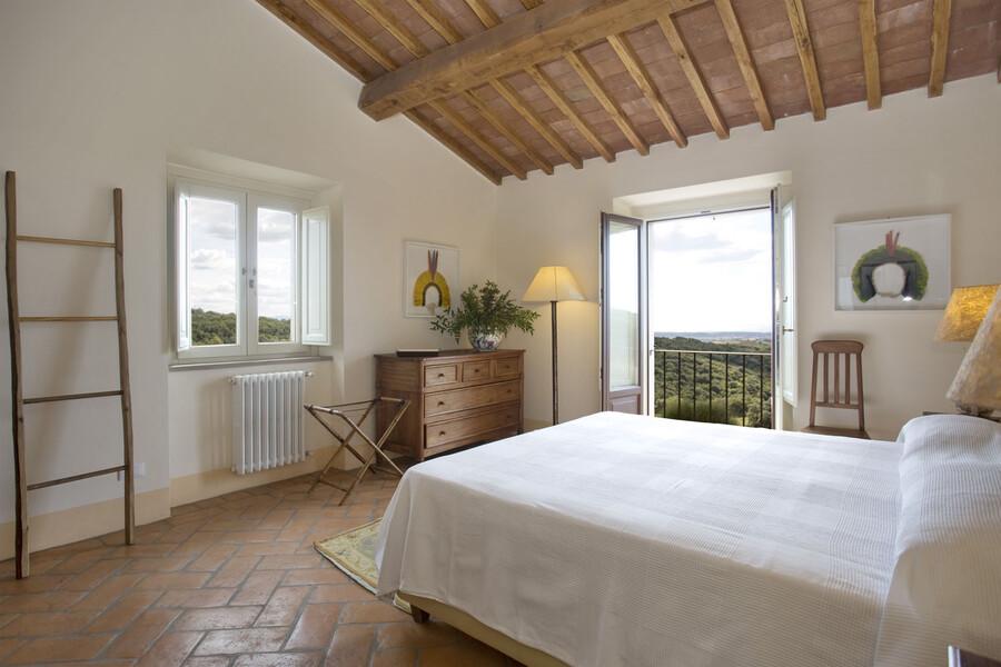 Direkt beim Aufwachen einen traumhaften Blick auf die Toskana genießen - willkommen im Ferienhaus La Lepraia