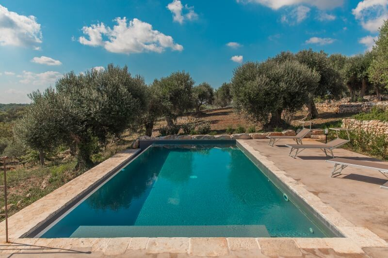 Privater Pool im Ferienhaus Trullo Silvano in Apulien